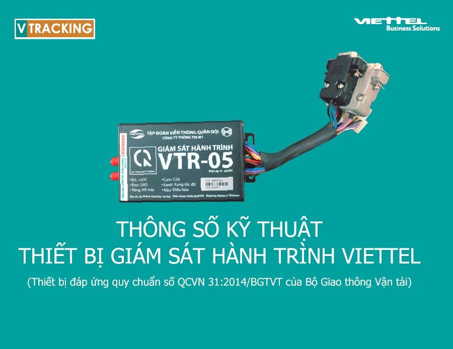 Ảnh minh họa: Thông số kỹ thuật thiết bị giám sát hành trình VTR-05