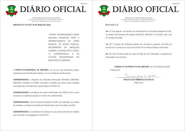 Prefeito Inácio Nóbrega prorroga Decreto Municipal que trata das medidas de enfrentamento e combate ao Covid-19