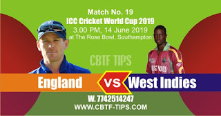 World Cup 2019 Match Prediction Tips by Experts England vs West Indies