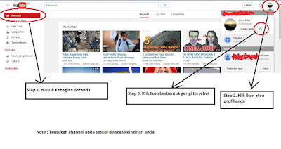 Setelan saluran youtube