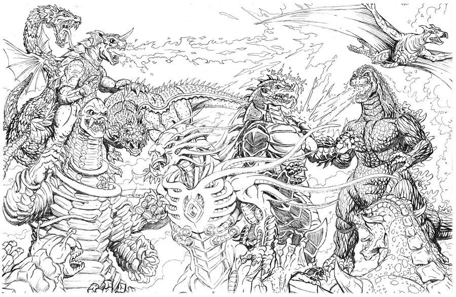 kaiju battle saturday showcase cool kaiju sketch