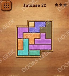 Cheats, Solutions, Walkthrough for Wood Block Puzzle Intense Level 22