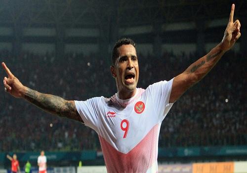 Beto Goncalves saat mencetak gol untuk timnas Indonesia