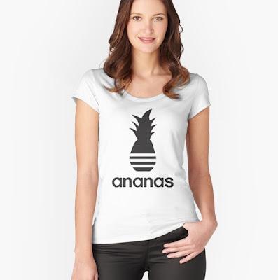 Black Ananas parody logo t-shirt