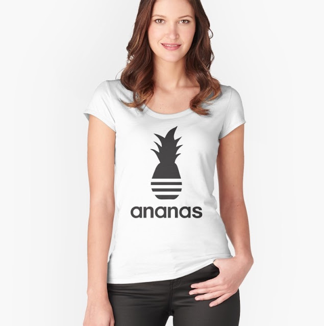 Bacic Black Ananas parody logo t-shirt