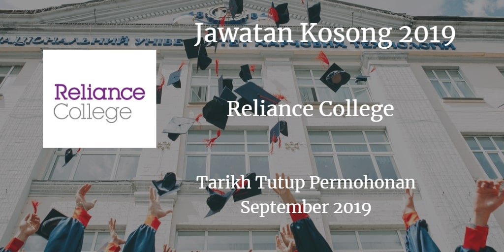 Jawatan Kosong Reliance College September 2019