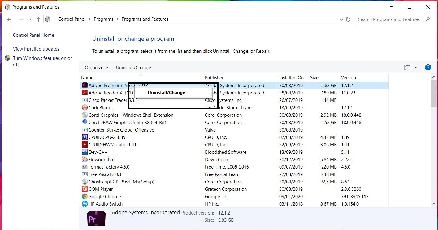 Cara menghapus aplikasi di pc laptop secara bersih