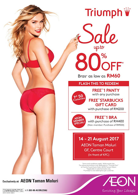 Triumph Sexy Crazy Sale Discount Offer Promo