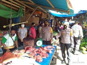 Operasi Yustisi di Pasar Tradisional Kauditan Dipimpin Langsung Kapolres Minut