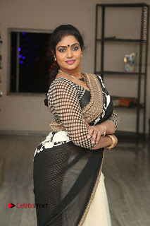 Telugu Actress Jayavani Jayavani Stills in Black Saree at Intlo Deyyam Nakem Bhayam Success Meet  0027.JPG