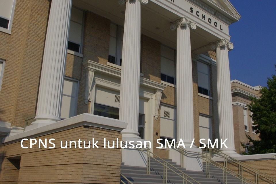 formasi cpns 2021 untuk lulusan SMA SMU SMK