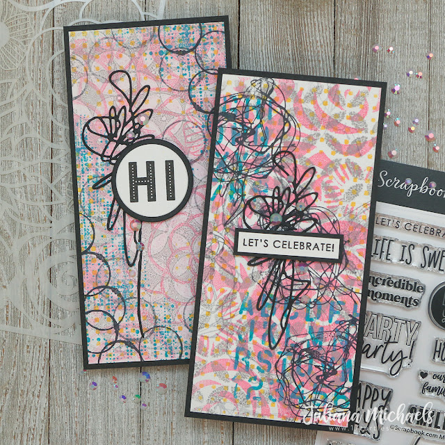 How To Create Backgrounds with Gel Plates, Distress Oxide Inks and Stencils by Juliana Michaels