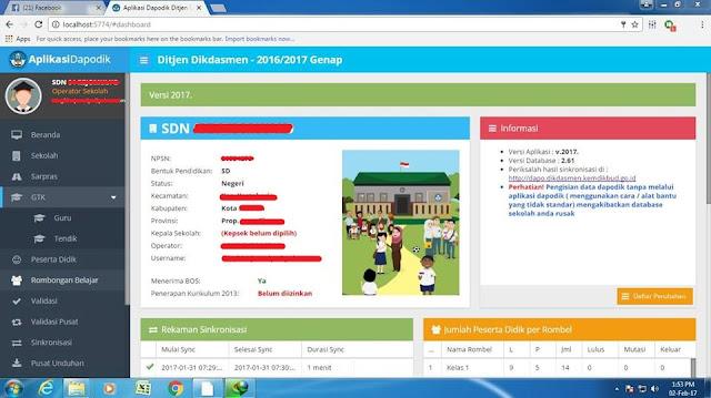 Download Aplikasi Dapodik Terbaru 2017 Untuk SD, SMP, SMA
