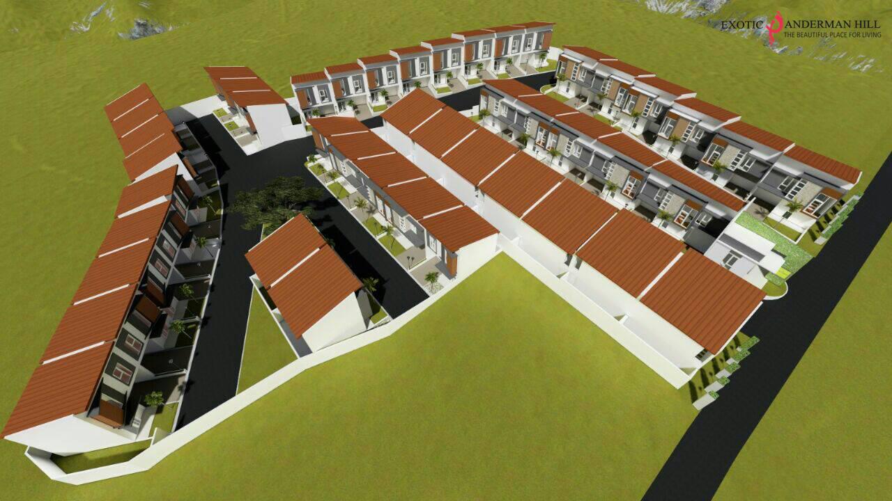 Ini adalah masterplan Exotic Panderman Hill, perum villa di Batu Malang dekat BNS dan Jatim Park tampak atas samping.