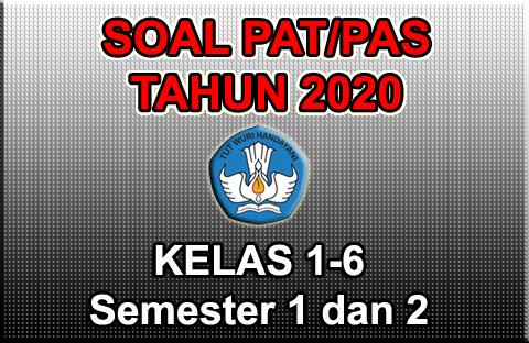 GAMBAR SOAL PAT PAS online 2020 kelas 1 2 3 4 5 6
