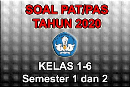 (Lengkap) Soal PAT/PAS Online Kelas 1 2 3 4 5 6 Tahun 2020