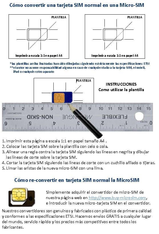 Plantilla Cortar Sim A Microsim Pdf
