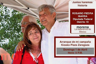 Rosario Piedra y AMLO