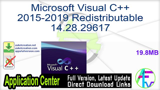 Microsoft Visual C++ 2015-2019 Redistributable 14.28.29617