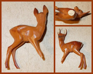 Vitacup Farm and Zoo Plastic Figurines Novelty Premium Animals Freebies Plastic Toy Deer Doe Fawn, Small Scale World, smallscaleworld.blogspot.com
