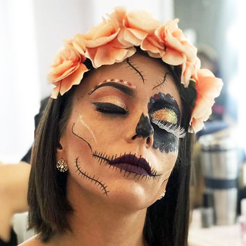 maquillaje de catrina sexy para halloween