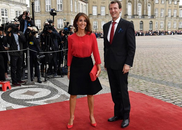 Prince Joachim, Princess Marie and Princess Benedikte were present