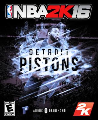 NBA 2K16 Custom Covers - Detroit Pistons