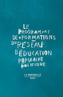 Programme de formation 2017 Réseau d'Éducation populaire politique La Grenaille