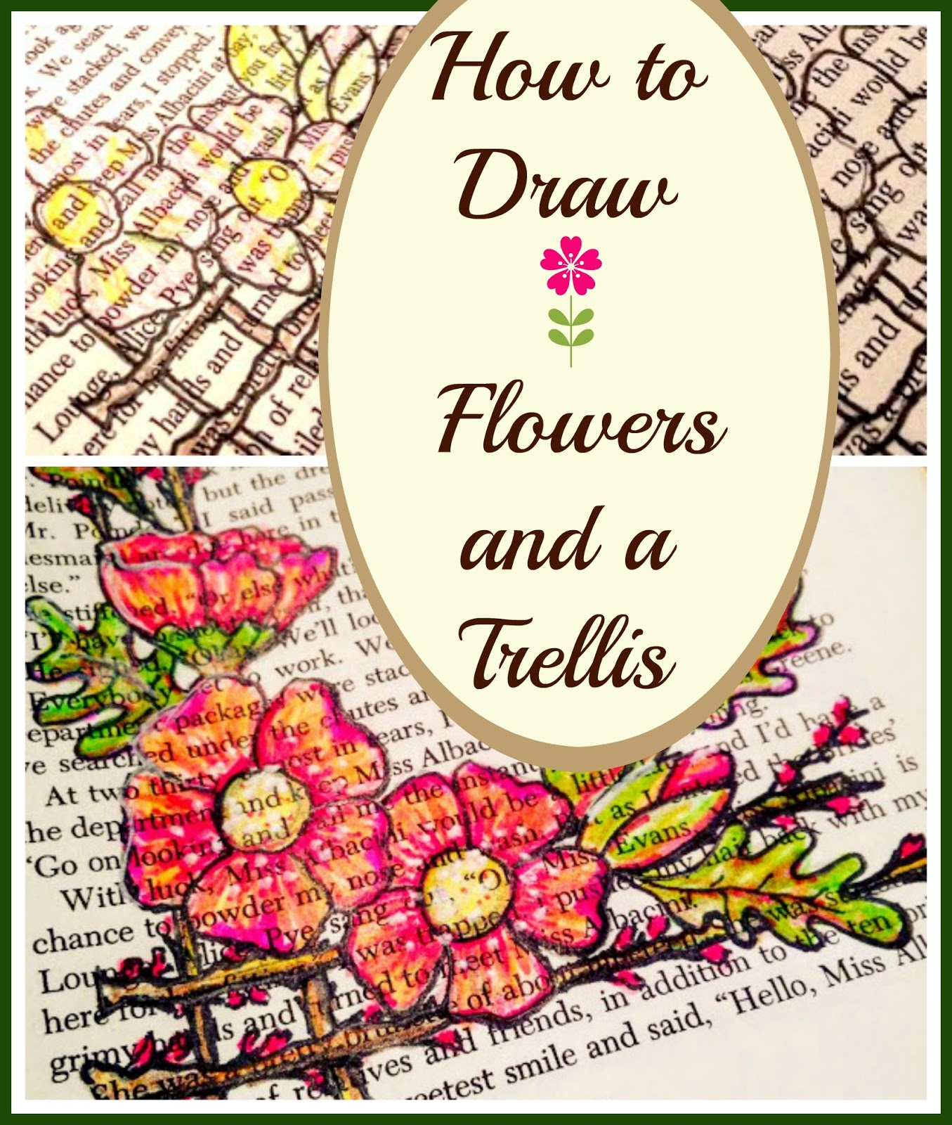 House revivals how to draw pretty flowers on a trellis if you have a white pen you can add highlights to whatever side you want your imaginary light source to originate from use a darker colored pencil to add mightylinksfo Image collections