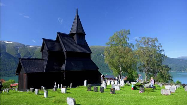 Patrimônios da UNESCO  na Noruega - Igreja de madeira de Urnes