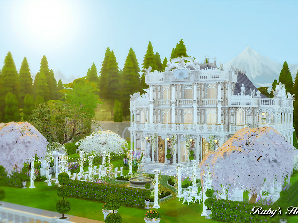 Sims 4  Von Haunt Estate Wedding Venue  浪漫莊園婚禮