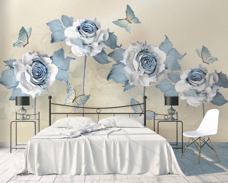 Tranh Dán Tường 3D Trang Trí Phòng Ngủ