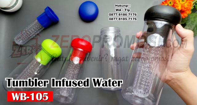 Bottle Infus Fruit WB-105, Tumbler Water Bottle With Fruit Infuser, tumbler BPA Free kode WB-105, souvenir Infused Water Bottle, tumbler  WB-105 Bpa Free With Fruit Infuser