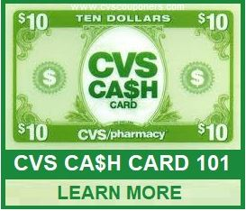 what is the cvs cash card promotion