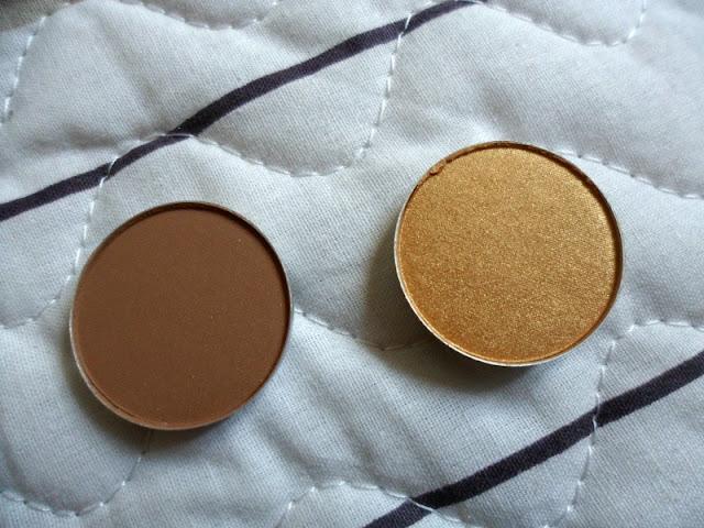 Mac Eyeshadows Goldmine And Cork