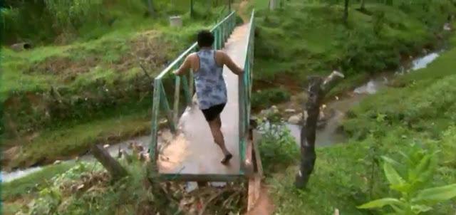 Ponte prestes a cair preocupa moradores em Santa Luzia