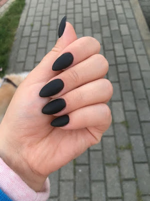 39 glam matte nails ideas with black nail art designs to