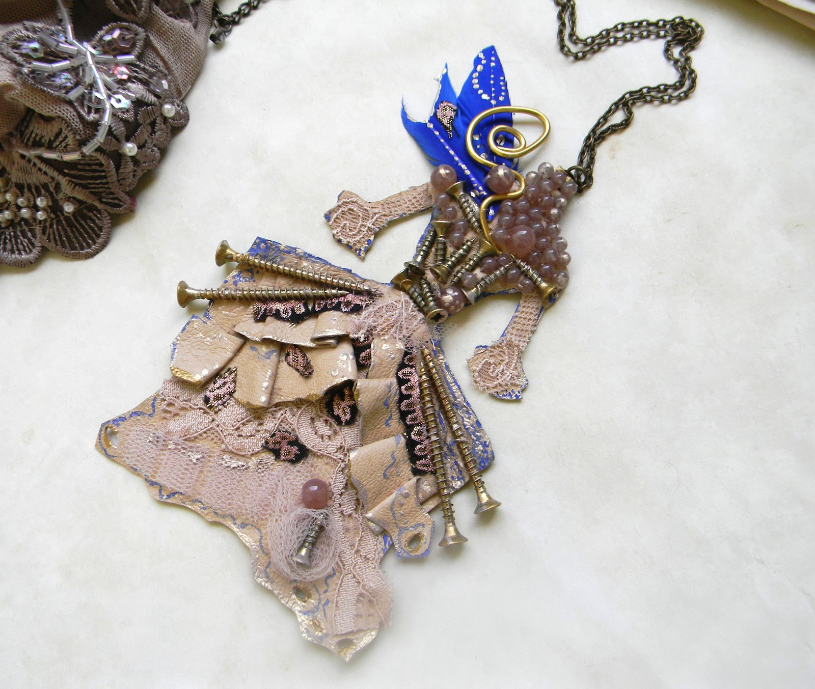 Rococo Necklace Couture/Marie Antoinette Dress/Statement Necklace