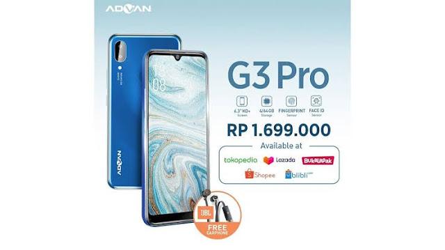 Harga dan Spesifikasi Lengkap Advan G3 Pro