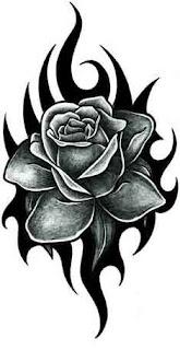 чёрная роза предплечье