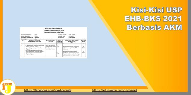 Unduh Kisi-Kisi USP EHB-BKS 2021