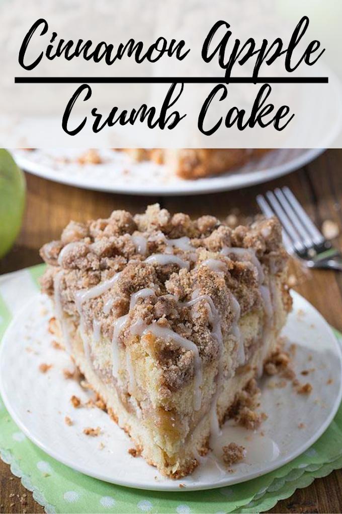 Cinnamon Apple Crumb Cake Dessert