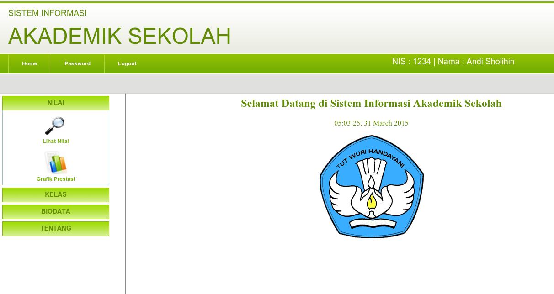 Download Sistem Informasi Akademik Sekolah Menggunakan Php Dan Mysql Gudang Coding