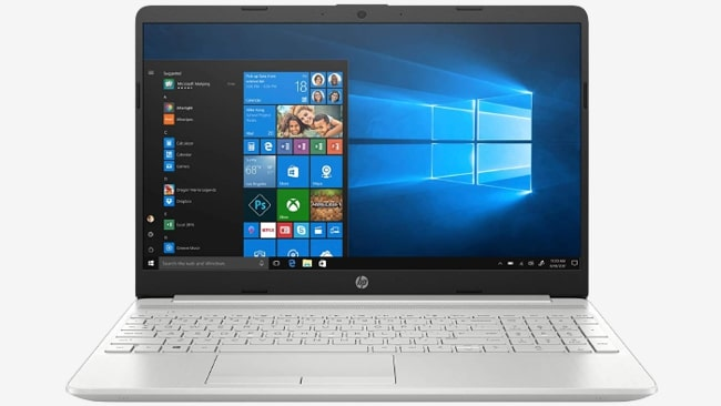 HP 15s dr1000tx 2020 office laptop to buy under ₹70,000.