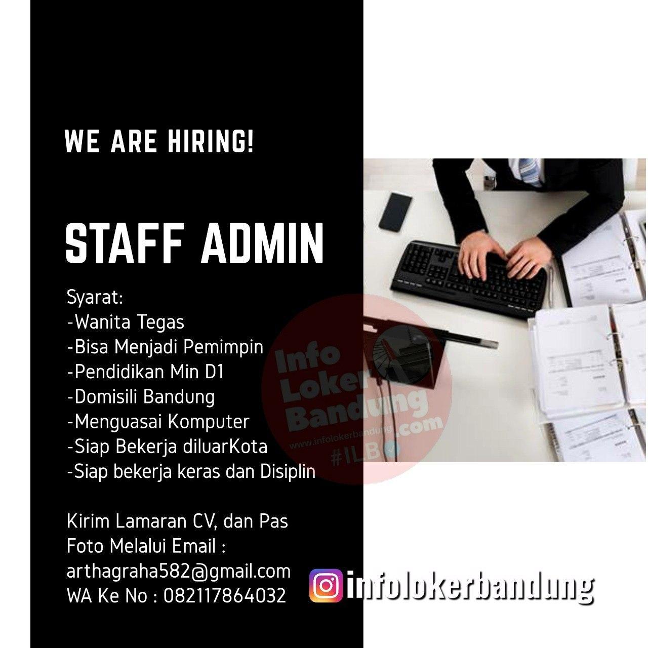 Lowongan Kerja Admin CV. Artha Graha Bandung Juli 2020