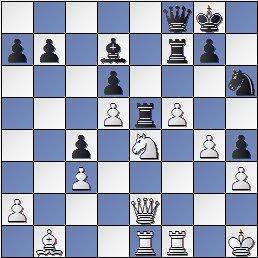 Posición de la partida de ajedrez Portisch - Ulvestad Olaf, después de 30... Te5