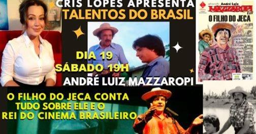 """O convidado especial do programa """"Talentos do Brasil""""  André Luiz Mazzaropi, """"O Filho do Jeca"""""""