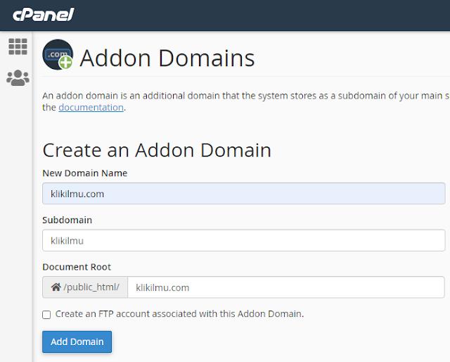 Cara Menambahkan Domain di cPanel