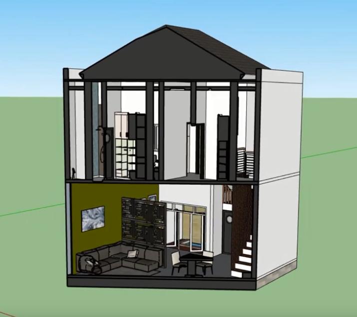 Desain Rumah Bentuk L 3 Kamar Gambar Website