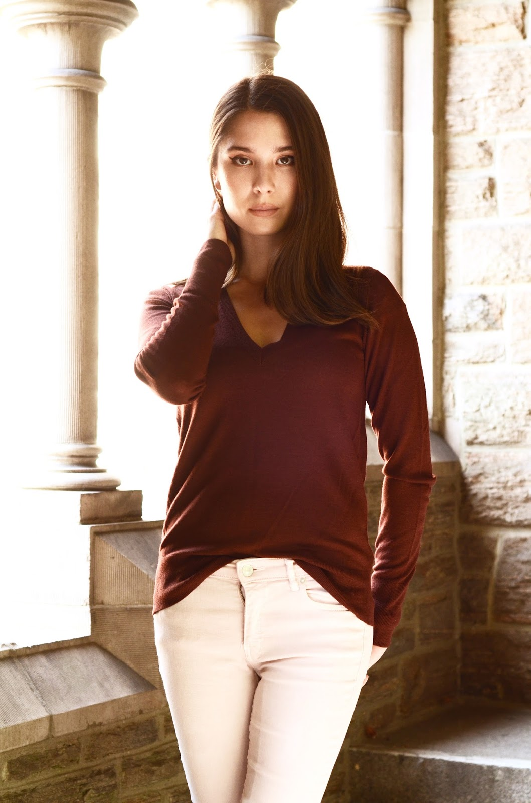 Everlane Luxe Wool V-Neck Sweater Review Photos